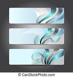 Set of abstract header design
