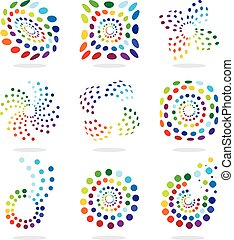 Set of abstract illustration icon