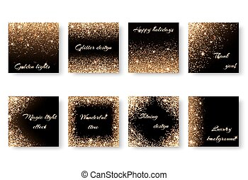 Set of abstract lighting effects - Set of backgrounds with...