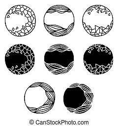 Set of abstract logo elements.