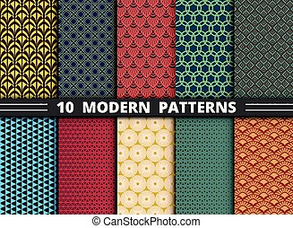 Set of abstract modern pattern design colorful background. illustration vector eps10