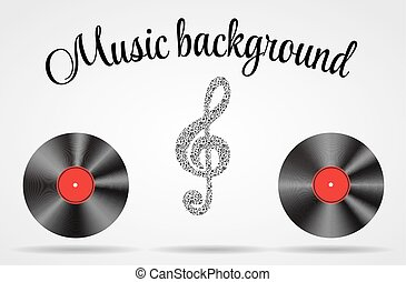 Set of Abstract music background vector illustration for your de