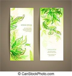 Set of abstract natural card