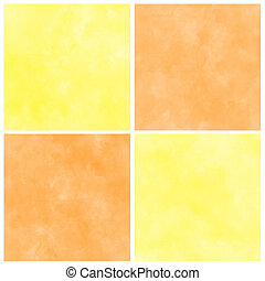 Set Of Abstract orange watercolor