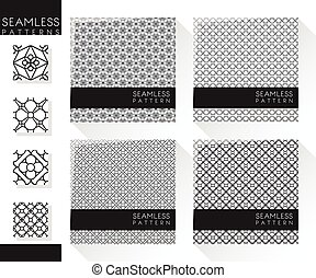 Set of abstract seamless pattern 2
