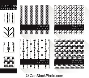 Set of abstract seamless patterns 4