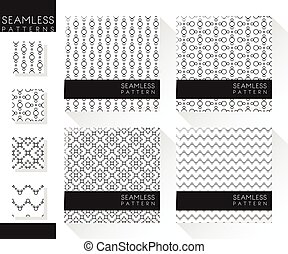 Set of abstract seamless patterns 5