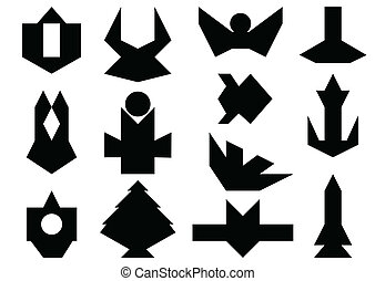 Set of abstract shapes