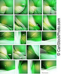 Set of abstract shining backgrounds, color and shadow design...
