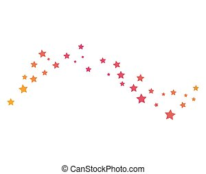 set of abstract star background template vector