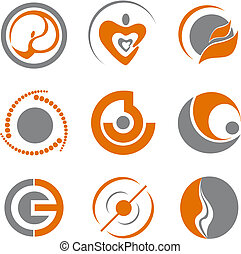 Set of abstract symbols - Set of different abstract symbols...