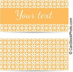 Set of abstract template banners with space for text. Vector illustration