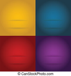 Set of abstract templates background - illustration