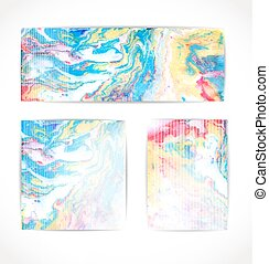 Set of abstract vector background. EPS 10