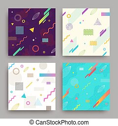 Set of abstract vector background