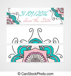 Set of abstract vector banners