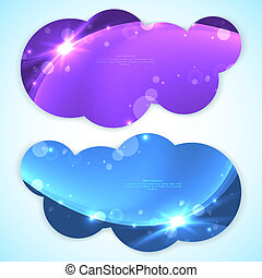 Set of abstract vector banners. Vector illustration for your business presentation