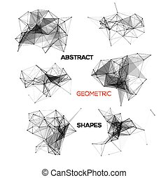 Set of abstract vector geometric shapes.