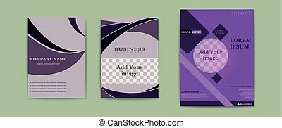 Set of abstract vector modern flyers and brochures. Business...