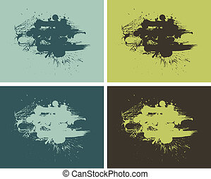 Set of abstract vector paint banners