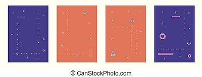 Set of abstract vertical backgrounds. Vector illustration.