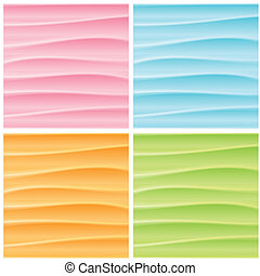 Set of Abstract Wavy Backgrounds. Vector Graphics