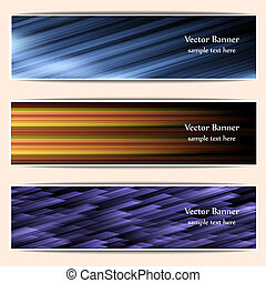 abstract web banners, headers - Set of abstract web banners...