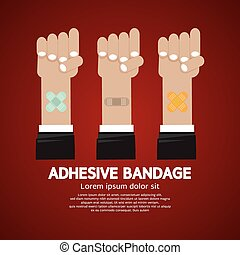 Set of Adhesive Bandage.