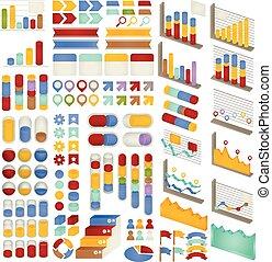 Set of Adjustable Infographics , Icon , Charts, Diagrams ...