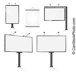 set of advertising outdoor design templates. vector illustration