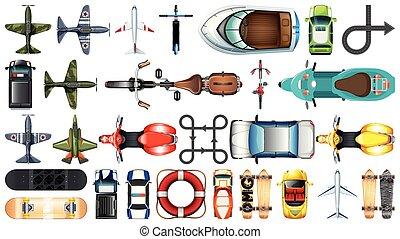 Set of aerial transportation