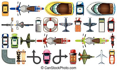 Set of aerial transportation vehicle