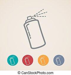 set of aerosol spray can icons