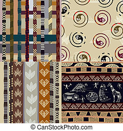Set of African Tribal patterns