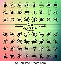 Set of agriculture icons