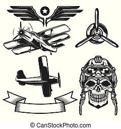 Set of aircraft elements