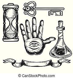 Set of alchemy elements