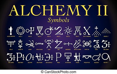 Set of Alchemy Symbols