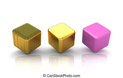set of all metal cubes of gold