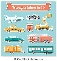 Set of all types of transport icon for creating your own ...