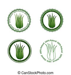 Aloe Vera labels - Set of Aloe Vera labels