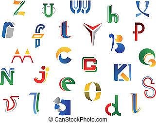 Set of alphabet symbols