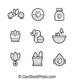 Set of Alternative Medicine Icons