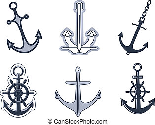 Set of anchor symbols - Set of anchorl symbols for design...