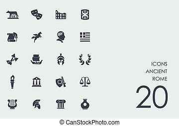 Set of Ancient Rome icons - Ancient Rome vector set of...
