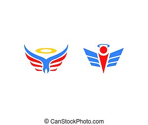Set of Angel logo design