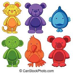 Set of animal cartoon character