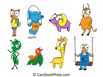 Set of animal cartoon