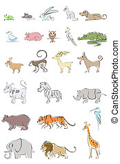Set of Animal