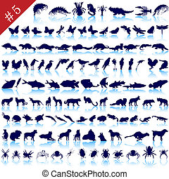 set of animal silhouettes